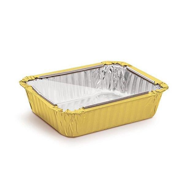 Marmitinha Amarelo Tampa de Acetato M 8,5x6,5x2,5cm - 12 unidades - Cromus - Rizzo Embalagens