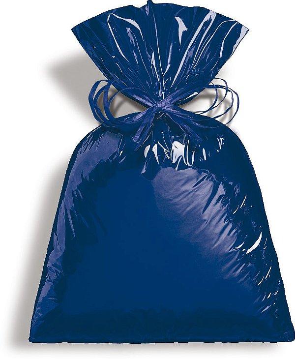Saco Metalizado Azul Intenso 25x37cm - 50 unidades - Cromus - Rizzo Embalagens