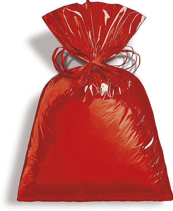 Saco Metalizado Vermelho 89x120cm - 25 unidades - Cromus - Rizzo Embalagens