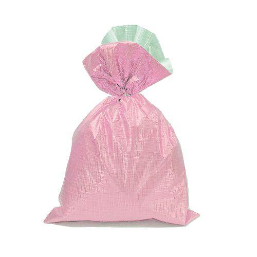 Saco Soft Color Rosa 15x22cm - 40 unidades - Cromus - Rizzo Embalagens
