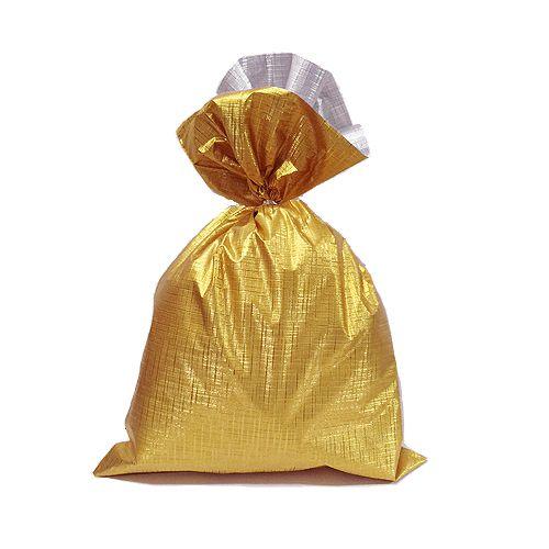Saco Soft Color Ouro 15x29cm - 40 unidades - Cromus - Rizzo Embalagens