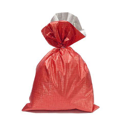 Saco Soft Color Vermelho 30x44cm - 40 unidades - Cromus - Rizzo Embalagens
