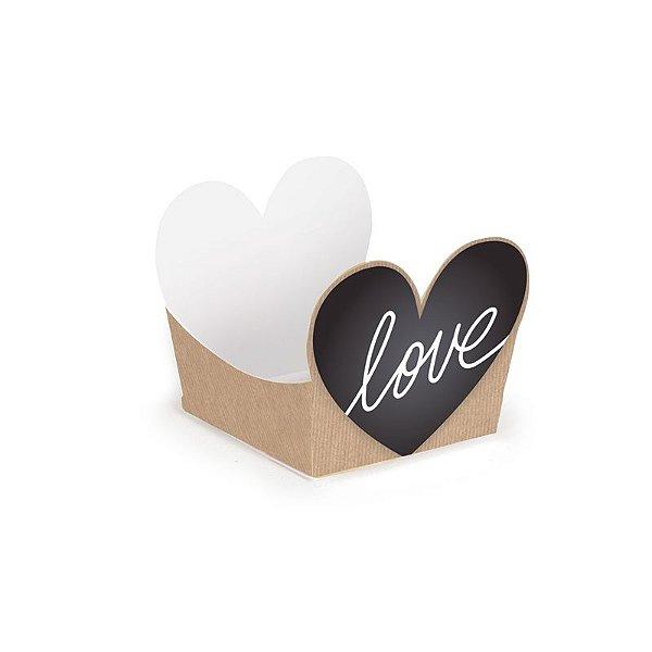 Forminha para Doces Love Felizes para Sempre 3x3x2cm - 24 unidades - Cromus - Rizzo Embalagens