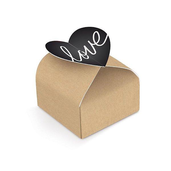 Caixa para Bem Casado Love Felizes para Sempre 5,5x5,5x4cm - 24 unidades - Cromus - Rizzo Embalagens