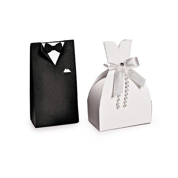 Caixa Mini Noivinhos Felizes para Sempre  - 10 unidades - Cromus - Rizzo Embalagens