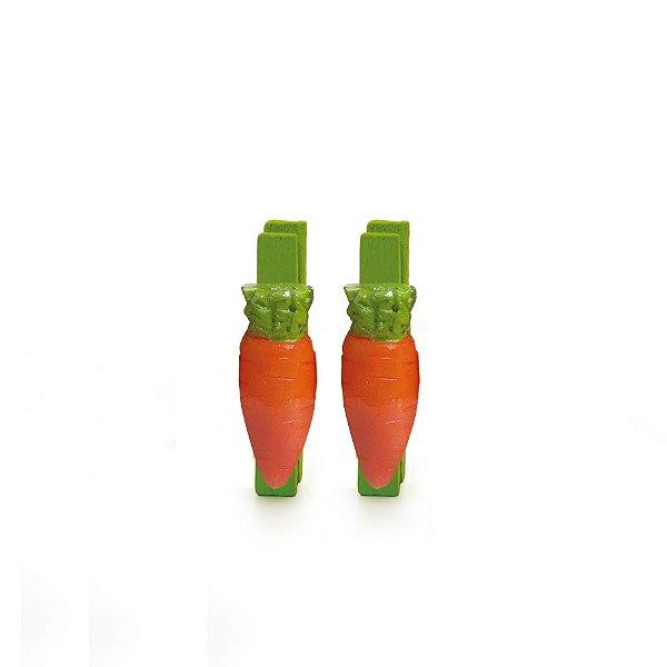 Prendedor de Páscoa Cenoura Grande - 6 unidades - Cromus Páscoa - Rizzo Embalagens