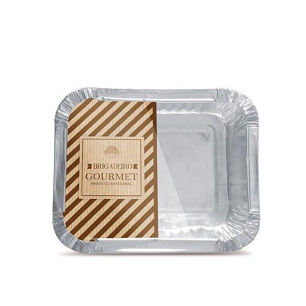 Marmitinha M 8,5x6,5x2,5cm Brigadeiro Gourmet Clássico - 12 unidades - Cromus - Rizzo Embalagens
