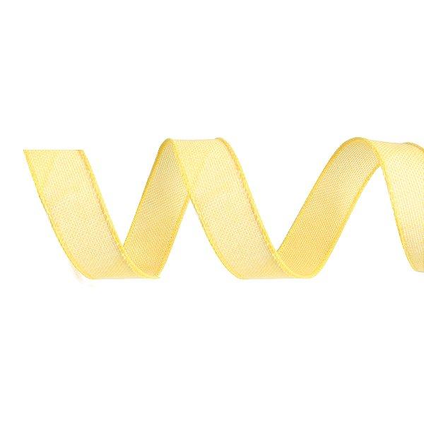 Fita de Juta Aramada Amarela para Decoração de Páscoa  - 3cm x 9,14m - Cromus Páscoa - Rizzo Embalagens
