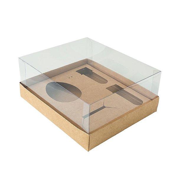 Caixa Ovo de Colher Kit Confeiteiro - Meio Ovo de 100g a 150g - 20,5cm x 17cm x 6,5cm - Kraft - 5unidades - Assk - Páscoa Rizzo Embalagens