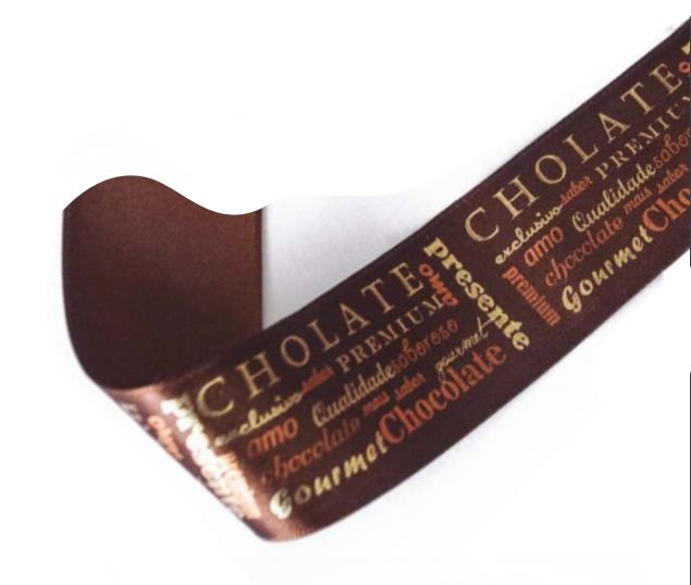 Fita de Cetim Chocolate Premium 38mm - 10 metros - Progresso - Rizzo Embalagens