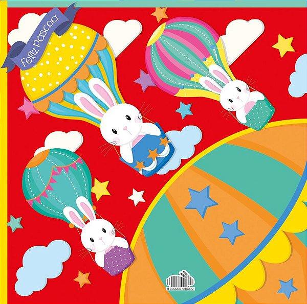 Saco Express 32x32cm para Ovos de 150g a 200g - Balão Mágico Vermelho - 05 unidades - Cromus Páscoa - Rizzo Embalagens