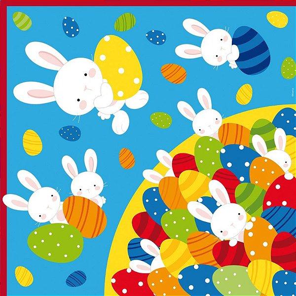 Saco Express 32x32cm para Ovos de 150g a 200g - Piscina de Ovos Azul - 05 unidades - Cromus Páscoa - Rizzo Embalagens