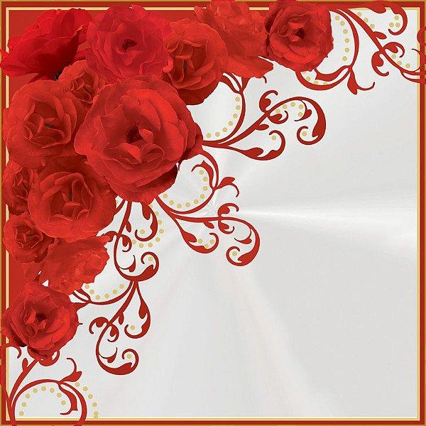 Saco Express 37,5x37,5cm para Ovos de Coração de 250g a 350g - Rosas Vermelhas - 05 unidades - Cromus Páscoa - Rizzo Embalagens