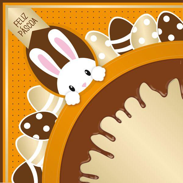 Saco Express 49x49cm para Ovos de 750g a 1kg - Chocopascoa Laranja - 05 unidades - Cromus Páscoa - Rizzo Embalagens