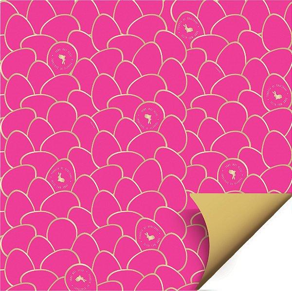 Folha para Ovos de Páscoa Double Face Astral Pink 69x89cm - 05 unidades - Cromus Páscoa - Rizzo Embalagens