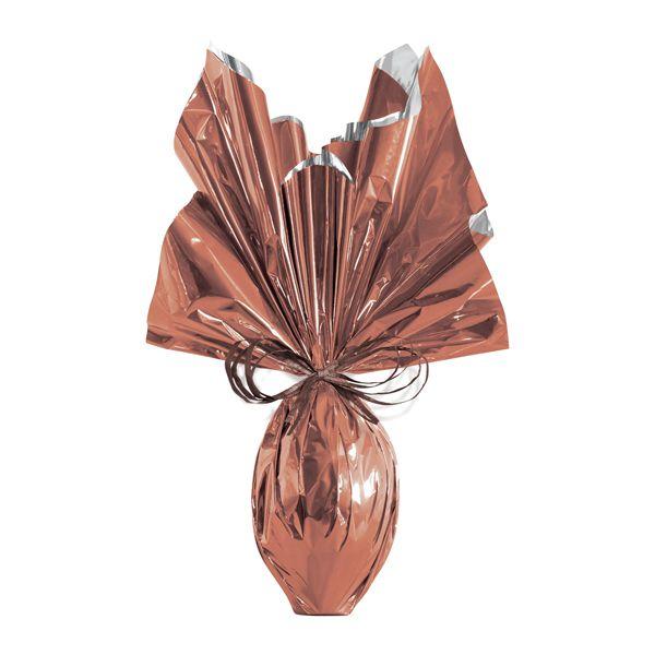 Folha para Ovos de Páscoa Metalizado Bronze 69x89cm - 05 unidades - Cromus Páscoa - Rizzo Embalagens