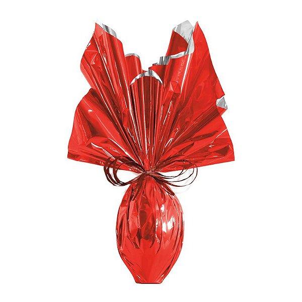 Folha para Ovos de Páscoa Metalizado Vermelho 69x89cm - 05 unidades - Cromus Páscoa - Rizzo Embalagens