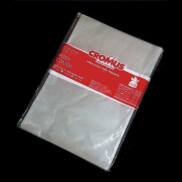 Saco Transparente - 89x120cm - 25 unidades - Cromus - Rizzo Embalagens