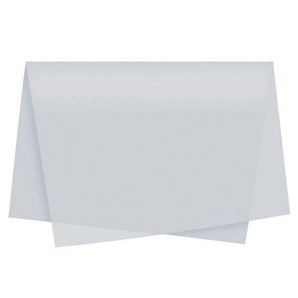 Papel de Seda - 49x69cm - Prata - 50 Folhas - Packpel - Rizzo Embalagens