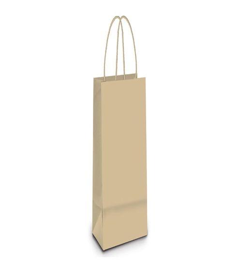 Sacola de Papel Garrafa 35x13x8cm - Pardo - 10 unidades - Cromus - Rizzo Embalagens
