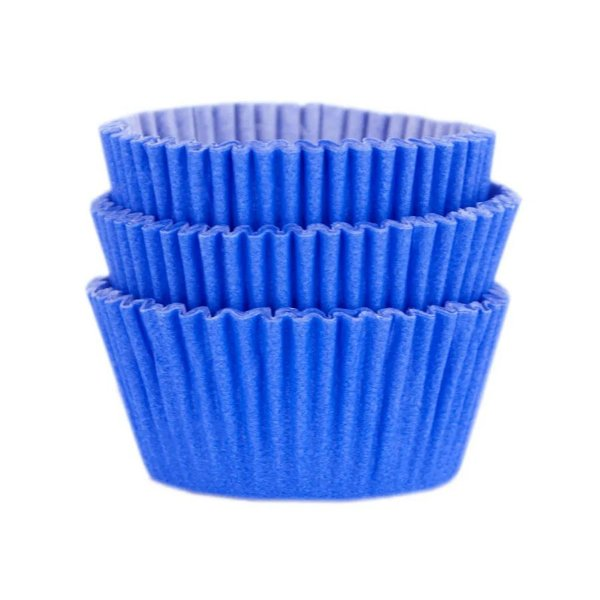 Forminha Forneável Mini Cupcake Nº 2 (2,5cm x 4cm) Azul Royal - 45 unidades - Mago - Rizzo Embalagens
