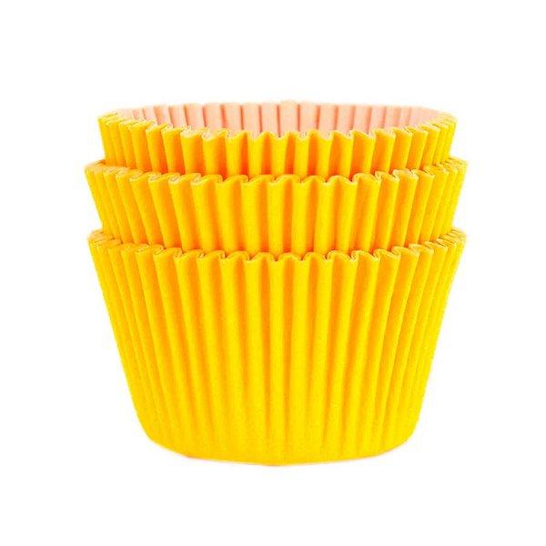 Forminha Forneável Mini Cupcake Nº 2 (2,5cm x 4cm) Amarela - 45 unidades - Mago - Rizzo Embalagens