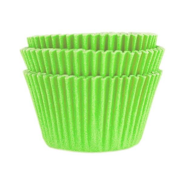 Forminha Forneável Mini Cupcake Nº 2 (2,5cm x 4cm) Verde Limão - 45 unidades - Mago - Rizzo Embalagens