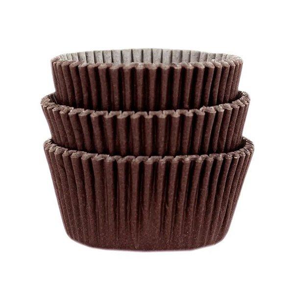 Forminha Forneável Mini Cupcake Nº 2 (2,5cm x 4cm) Marrom - 45 unidades - Mago - Rizzo Embalagens