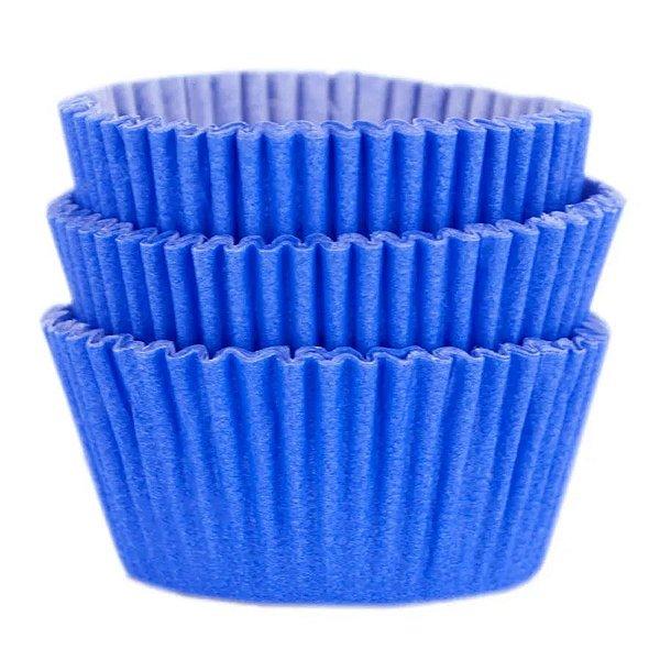Forminha Forneável Cupcake Nº 0 (4cm x 5cm) Azul Royal - 45 unidades - Mago - Rizzo Embalagens