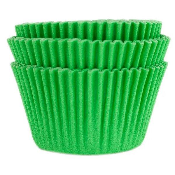 Forminha Forneável Cupcake Nº 0 (4cm x 5cm) Verde Bandeira - 45 unidades - Mago - Rizzo Embalagens