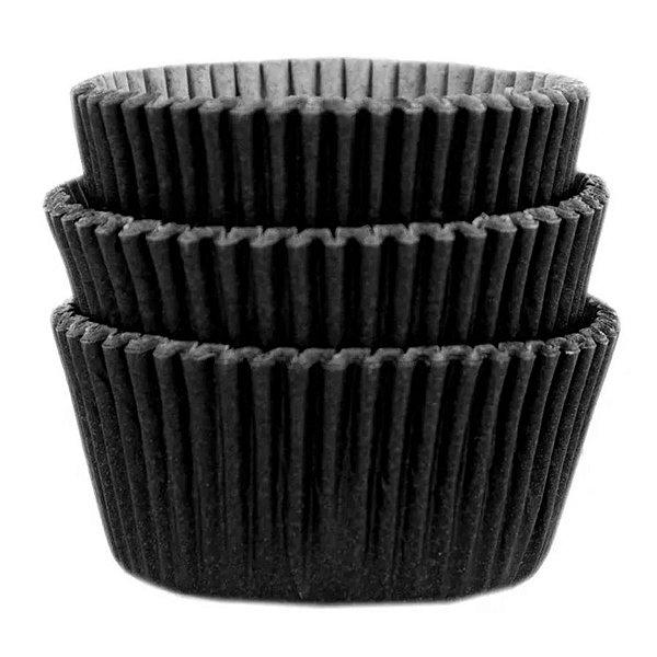 Forminha Forneável Cupcake Nº 0 (4cm x 5cm) Preta - 45 unidades - Mago - Rizzo Embalagens