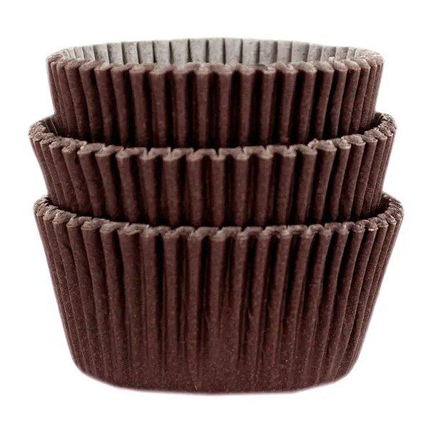 Forminha Forneável Cupcake Nº 0 (4cm x 5cm) Marrom - 45 unidades - Mago - Rizzo Embalagens