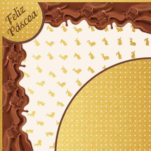 Saco Express 49x49cm para Ovos de 750g a 1kg - Coleção Elis - 05 unidades - Cromus Páscoa - Rizzo Embalagens