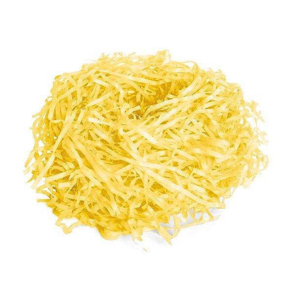 Palha de Seda Decorativa Amarelo - 01 pacote 50g - Cromus Páscoa - Rizzo Embalagens