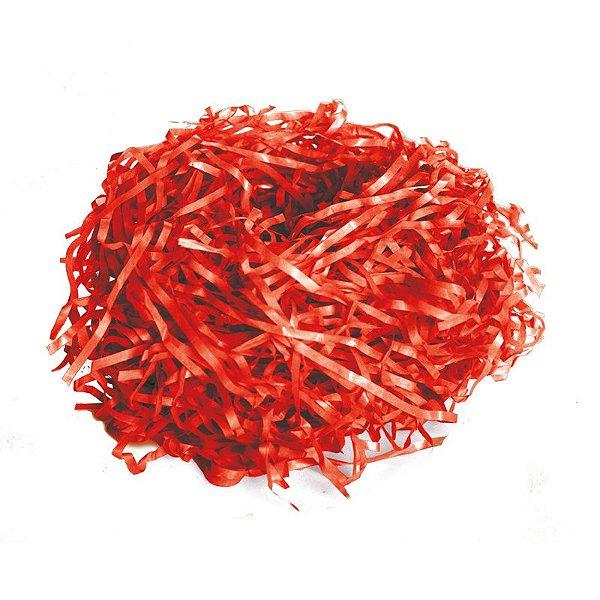 Palha de Seda Decorativa Vermelho - 01 pacote 50g - Cromus Páscoa - Rizzo Embalagens