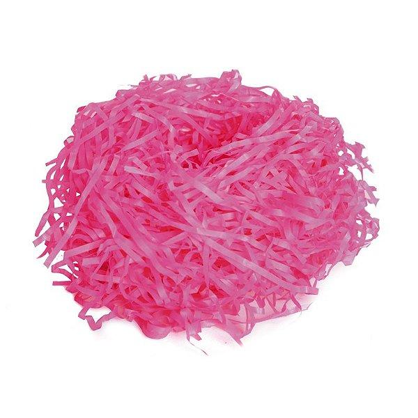 Palha Decorativa Pink - 01 pacote 100g - Cromus Páscoa - Rizzo Embalagens