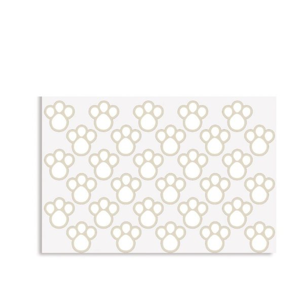 Cartela Adesiva Pegadas Branco P - 02 unidades - Cromus Páscoa - Rizzo Embalagens