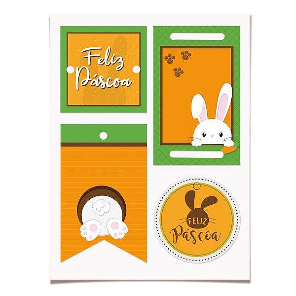 Cartela de Tags Destacáveis Toca do Coelho - 03 unidades - Cromus Páscoa - Rizzo Embalagens