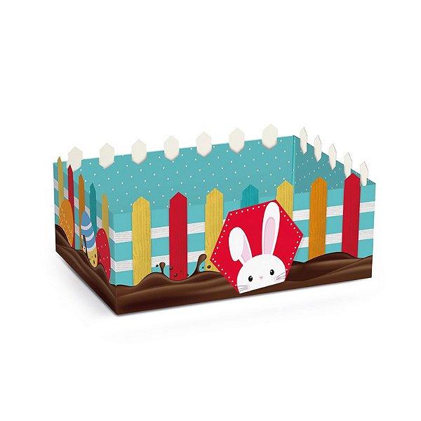 Cesta Cerquinha de Papel Cartão Páscoa Adoleta M 22x15x8cm - 01 unidade - Cromus Páscoa - Rizzo Embalagens