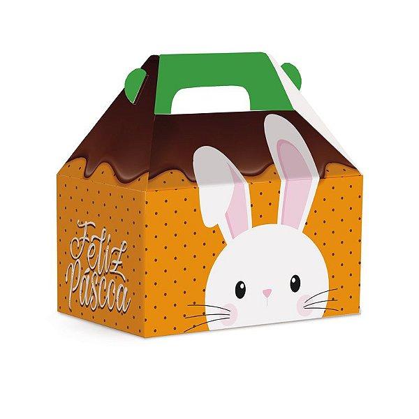 Caixa Maleta Kids Chocoelho G 15x10x15cm - 10 unidades - Cromus Páscoa - Rizzo Embalagens