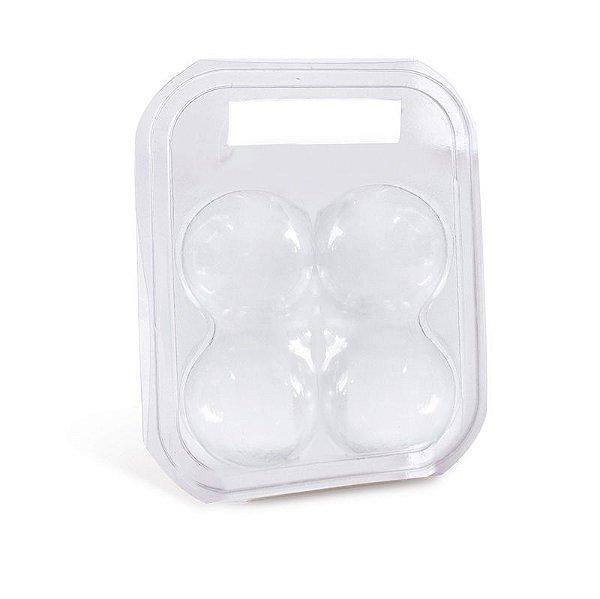 Maleta para 4 ovos Transparente 17x12x6,5cm - 10 unidades - Cromus Páscoa - Rizzo Embalagens