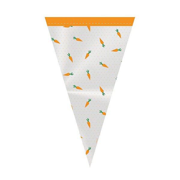 Cone Festa Hora da Cenoura 18x30cm - 50 unidades - Cromus Páscoa - Rizzo Embalagens