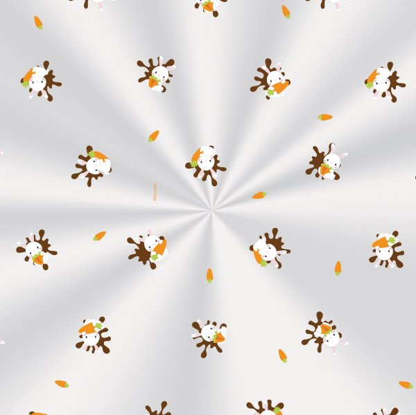Saco Transparente Decorado 10x14cm Coelhinhos - 100 unidades - Cromus Páscoa - Rizzo Embalagens