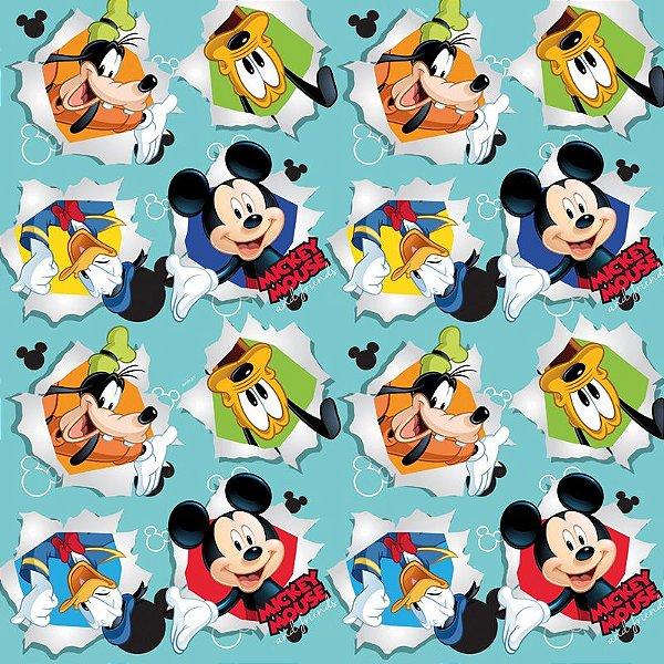 Folha para Ovos de Páscoa Mickey Friendship Azul 69x89cm - 05 unidades - Cromus Páscoa - Rizzo Embalagens