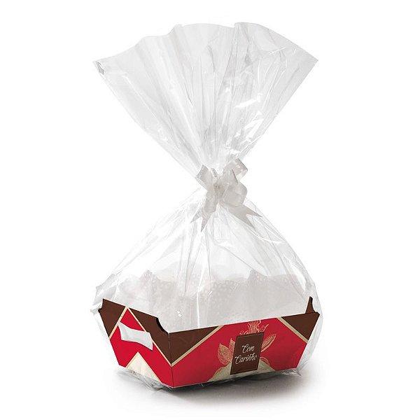 Kit Cesta De Papel Cartão MG 27x18,5x9,5cm Douce - 01 unidade - Cromus Páscoa - Rizzo Embalagens
