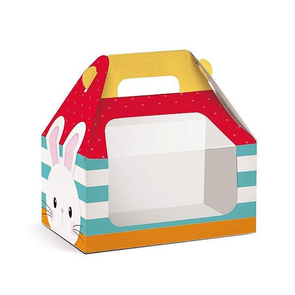 Caixa Maleta Kids com Visor Adoleta M 12x12x8cm - 10 unidades - Cromus Páscoa - Rizzo Embalagens