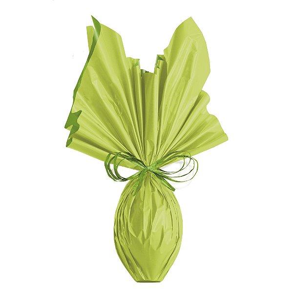 Folha para Ovos de Páscoa Double Face Acetinado Verde/Verde 69x89cm - 05 unidades - Cromus Páscoa - Rizzo Embalagens