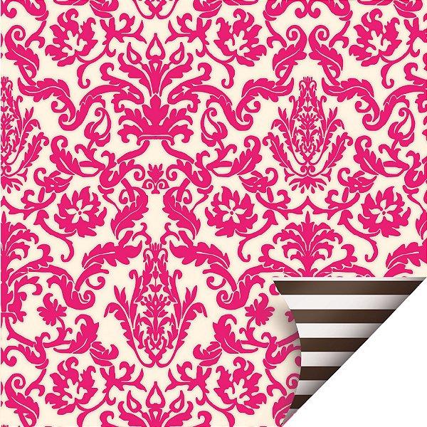 Folha para Ovos de Páscoa Double Face Felicidade Pink 69x89cm - 05 unidades - Cromus Páscoa - Rizzo Embalagens