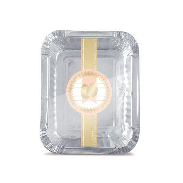 Marmitinha Ovos de Ouro M 8,5x8,5x6,5cm - 12 unidades - Cromus Páscoa - Rizzo Embalagens