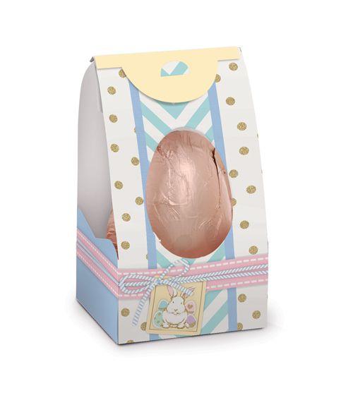 Caixa Gift Egg para Ovos de 250g a 350g 18x9,5x9cm Simplicidade - 10 unidades - Cromus Páscoa - Rizzo Embalagens